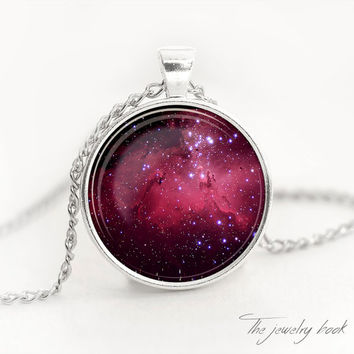 NEBULA Pendant Galaxy Necklace Space Jewelry Universe Pendant Nebula Necklace gift for her Necklace for her