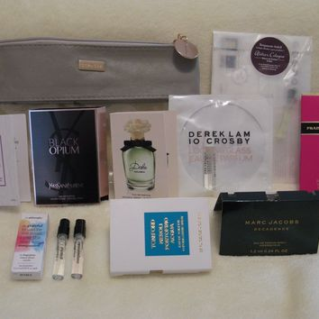 Sephora 'Femme Fatale' Perfume Sample Set of 10 w/Bag - Prada, Tom Ford, YSL