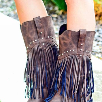 ROPER: MADE FOR WALKIN TALL FRINGE BOOTS from DECADENCE BOUTIQUE