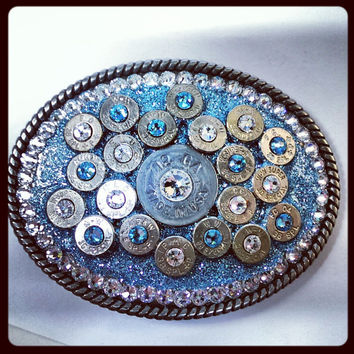 Baby Blue Bullet Belt Buckle