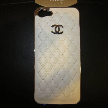 iPhone 5 Chanel Luxury Designer Quilted Case White Black and Light Pink