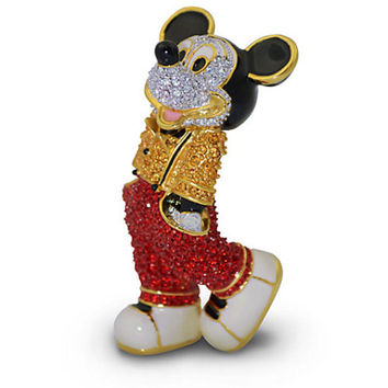 Disney Parks Mickey Mouse Cool Jeweled Figurine by Arribas Brothers New with Box