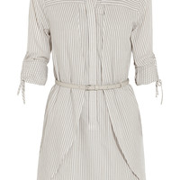 Halston Heritage - Striped cotton-poplin dress