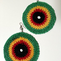 Crochet Rasta Earrings