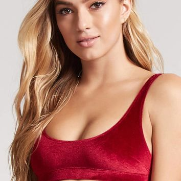 Velvet Scoop Neck Bralette