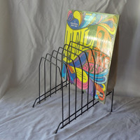 Black Wire Record Rack or File Holder