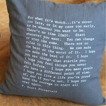 FITZGERALD QUOTE PILLOWS