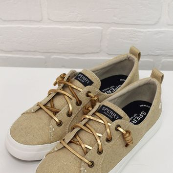 SPERRY TAN & GOLD CREST VIBE SNEAKER