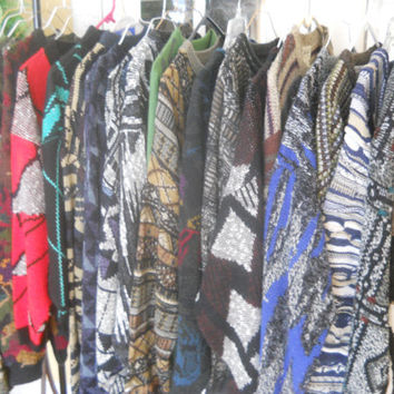 MYSTERY SWEATER Vintage Oversized Sweaters Just 11 dollars! Hipster Unisex oversize all patterned styles Coogi, Cosby, Tribal, Geometrics