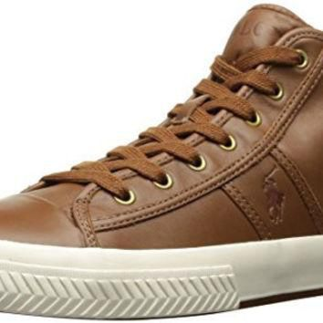 Polo Ralph Lauren Men's Tremayne Sneaker, Brown, 12 D US