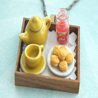 cookie sandwich tray necklace