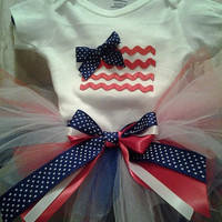 SHIRT ONLY, Fourth of July tutu outfit set with applique american flag Onesuit, Independence day, 4th of July, pride, stars and stripes