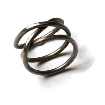 Silver Double Helix Ring, Double Infinity Ring
