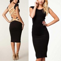 Women Sexy Bodycon Bandage Backless Prom Cocktail Evening Mini Slim Party Dress