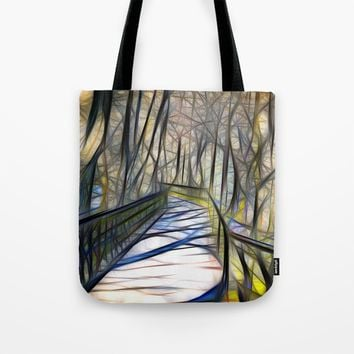 Bridge Tote Bag by Karl-Heinz Lüpke