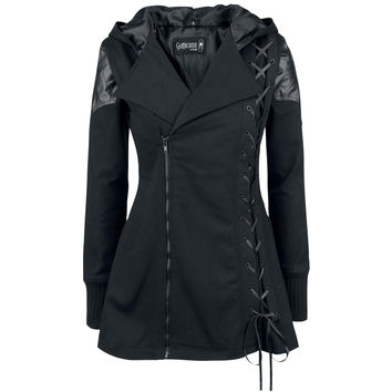 Lace-Up Vampire Womens Hooded Coat