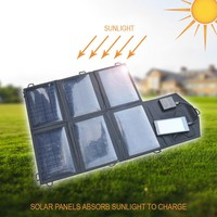 5w/7w/14w/21w Foldable Portable Solar Panel Battery Charger USB Power Bank Pack