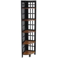Fretted Tall Corner Shelf