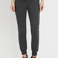 Zippered Moto Joggers | Forever 21 - 2000145863