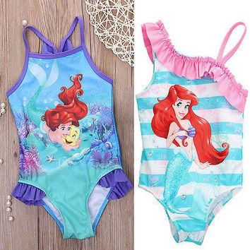 Hot girls one piece little mermaid ballet swimwear bikini meisje girls bathing suits baby swimming suit toddler