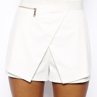River Island Textured Skort Short