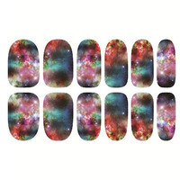 One Sheet Multicolor Sky Patterns DIY Nail Art Sticker