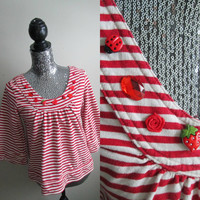 Valentines Day Red Buttons 60s Style Shirt