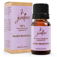 "7 Jardins Soul Meditation Synergy Blender ★100% Pure Therapeutic Essential Oil ""Soulful Meditation""  (10 ml) ★Enhances your Meditation Experience ★Enriched with Plant Based Natural Ingredients"