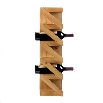 Rustic Zig Zag Wood Crate Wall Rack