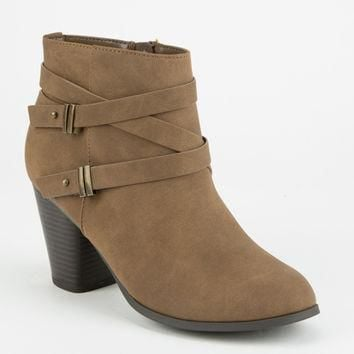 SODA Double Strap Womens Booties | Boots + Booties