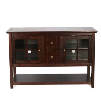 "52"" Wood Console Table TV Stand - Espresso"