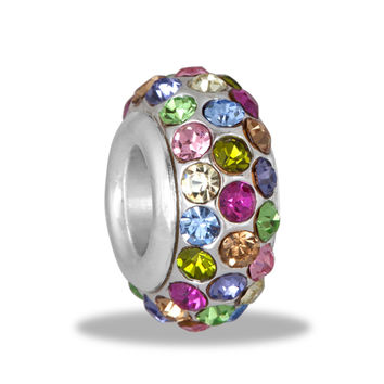 DaVinci Bead Multicolor 3 Row Crystal