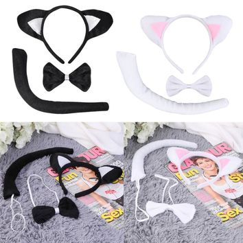 Cute Animal Tail, Ear, and Bow Set
