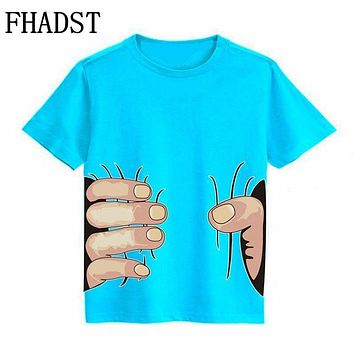 FHADST Summer Boys T Shirts 3D Style hort Cotton Kids 2-8 Year Children Clothing Tee Outwear Child Clothes Cool Fashion Arrival