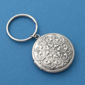 Vintage, Style, Locket, Antique, Silver, Keychain, Locket, Jewelry, Gift, Simple, Minimal, Jewelry, Accessory