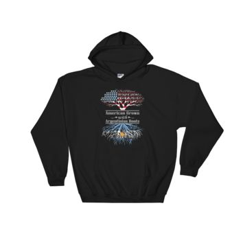 American Grown With Argentinian Roots - Hooded Sweatshirt
