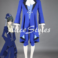 Black Butler Ciel Phantomhive Dance Cosplay Costume Ciel Phantomhive Coat Halloween Cosplay Costume