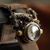 handmade watch MECHTOPIA2   for  steampunk lover by revolt70