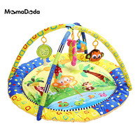Baby Gym Mat With Rack Baby Gym Educational Carpet Soft Puzzle Mat Game Blanket Pad Baby Toys Musical Crawling Mat