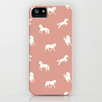 Horse Print (Warm Taupe) iPhone & iPod Case by Jacqueline Maldonado