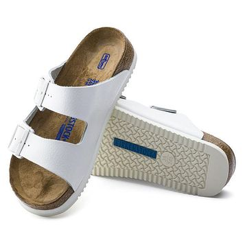 Best Online Sale Birkenstock Arizona Soft Footbed Leather White 0230164/0230166 Sandal