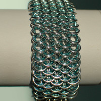 Dragonscale Cuff in Baby Blue - Ready to Ship - Fast Shipping