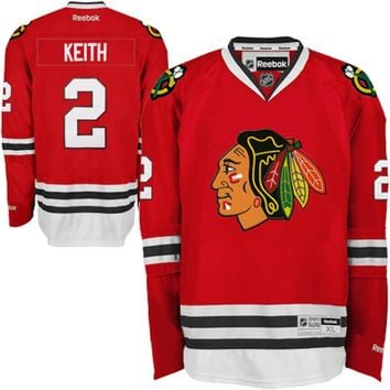 Reebok Duncan Keith Chicago Blackhawks Premier Player Replica Jersey - Red