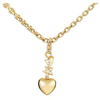 Chanel Diamond Gold Charms Pendant Necklace