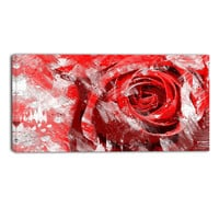 Majestic Red Rose Floral Canvas Wall Art Print