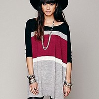 Free People  Wide Stripe Oversized Pullover at Free People Clothing Boutique