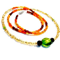 African waistbeads made with orange, green, brown, gold, beads tribal gift for women gift for girls sexy gift waist jewelry handmade