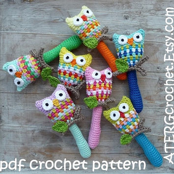 Crochet pattern OWL RATTLE by ATERGcrochet