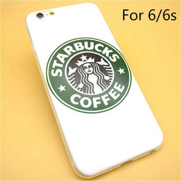 Fashion Starbucks Coffee TPU Slim Back Skin Ultra Thin Soft Phone Case Shell For iPhone 6/6s
