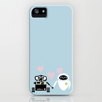 pixar walle and eve love and romance... minimalistic iPhone & iPod Case by studiomarshallarts